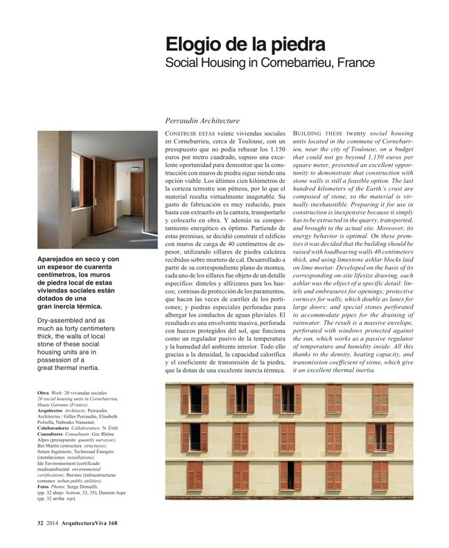 Arquitectura Viva 168 MASS IS MORE. THERMAL INERTIA AND SUSTAINABILITY - Preview 12