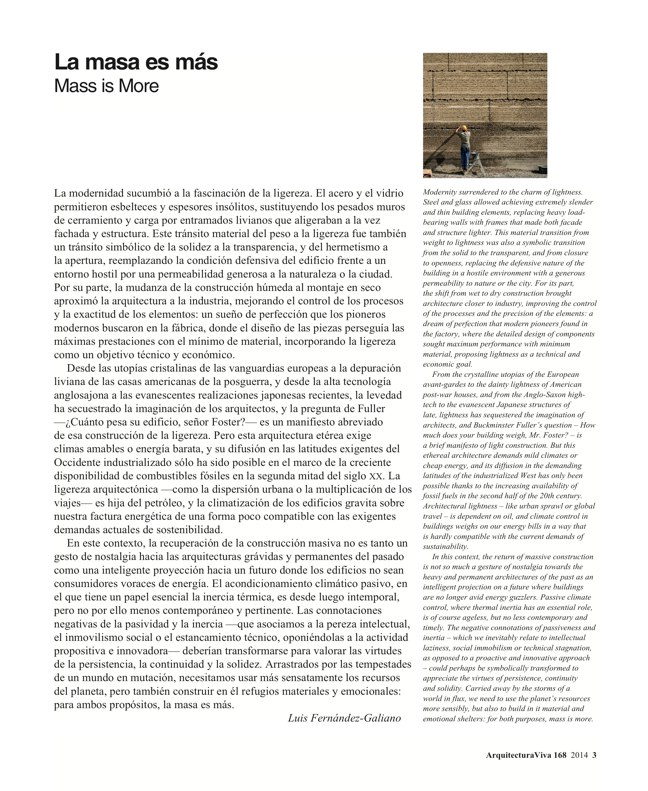 Arquitectura Viva 168 MASS IS MORE. THERMAL INERTIA AND SUSTAINABILITY - Preview 3