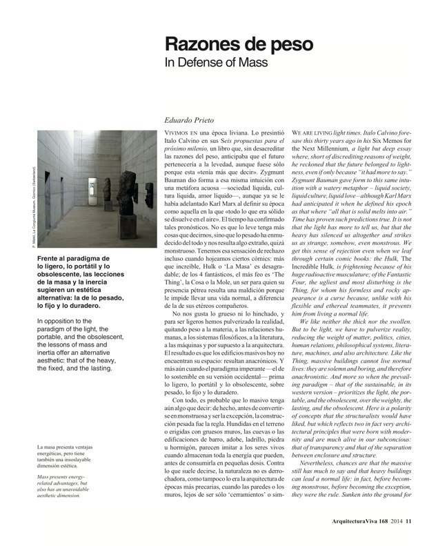 Arquitectura Viva 168 MASS IS MORE. THERMAL INERTIA AND SUSTAINABILITY - Preview 5