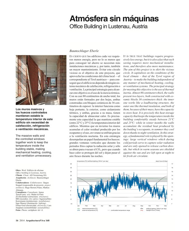 Arquitectura Viva 168 MASS IS MORE. THERMAL INERTIA AND SUSTAINABILITY - Preview 6