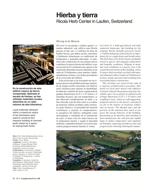 Arquitectura Viva 168 MASS IS MORE. THERMAL INERTIA AND SUSTAINABILITY - Preview 8