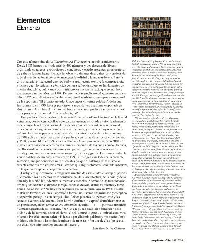 Arquitectura Viva 169 ELEMENTS - Preview 3