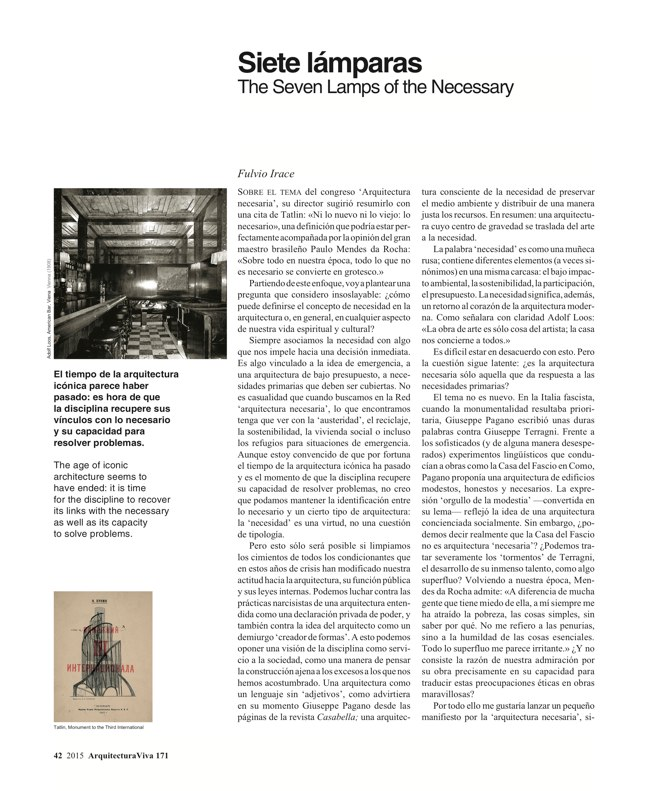 Arquitectura Viva 171 NECESSARY BUILDERS - Preview 14