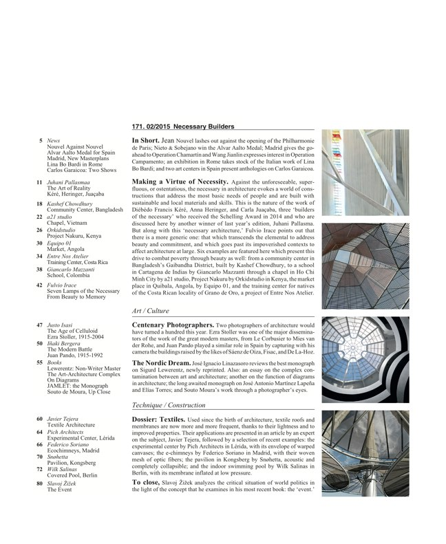 Arquitectura Viva 171 NECESSARY BUILDERS - Preview 2