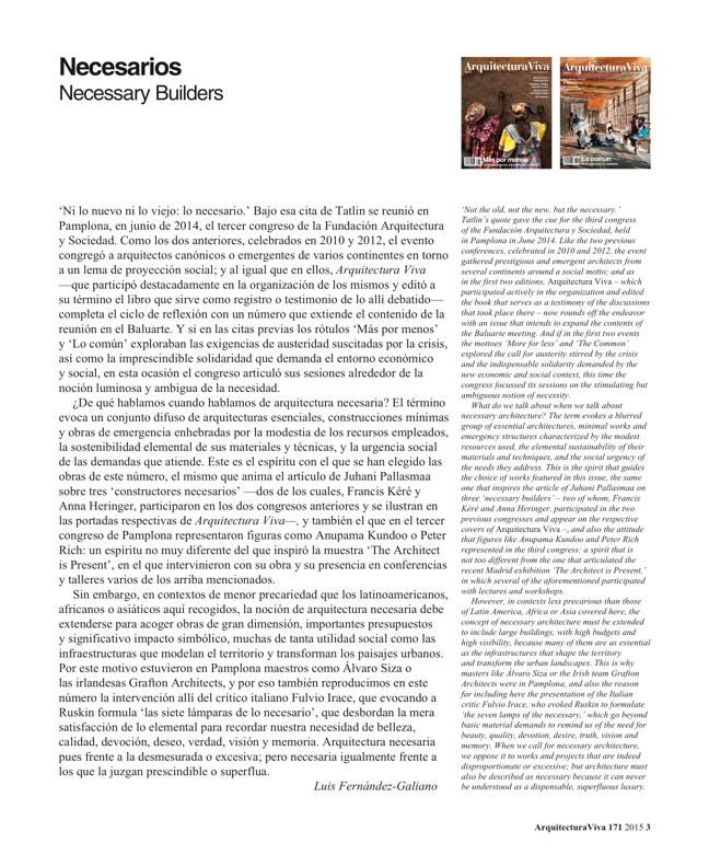 Arquitectura Viva 171 NECESSARY BUILDERS - Preview 3