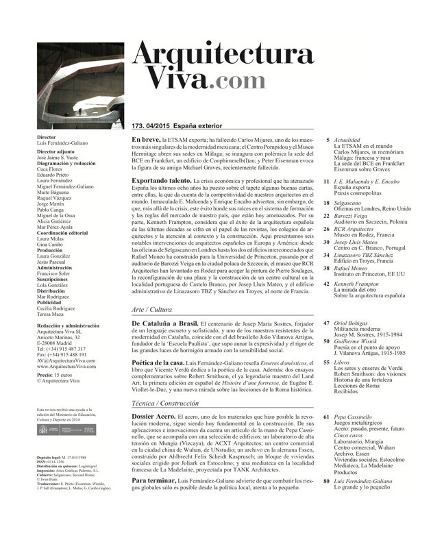Arquitectura Viva 173 SPAIN ABROAD - Preview 1