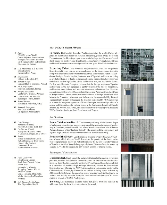 Arquitectura Viva 173 SPAIN ABROAD - Preview 2