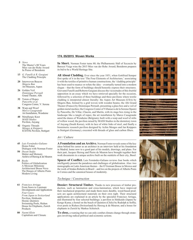 Arquitectura Viva 174 WOVEN WORKS - Preview 2