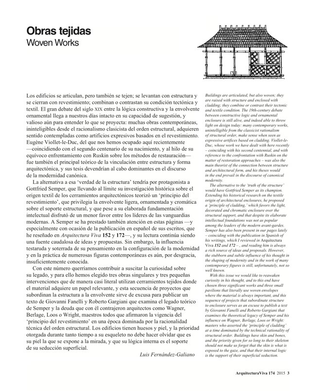 Arquitectura Viva 174 WOVEN WORKS - Preview 3