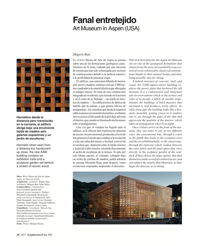 Arquitectura Viva 174 WOVEN WORKS - Preview 5