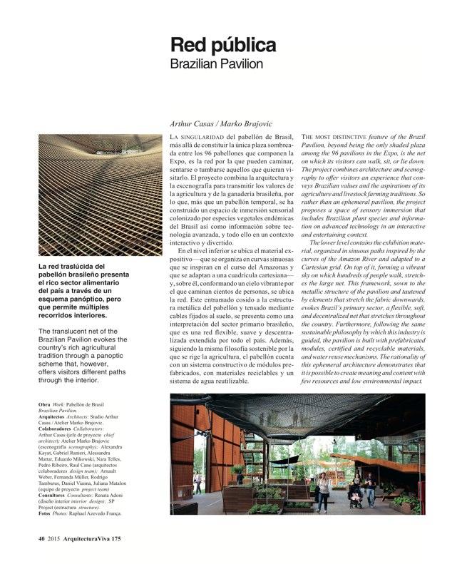 Arquitectura Viva 175 EXPO MILANO 2015 - Preview 11