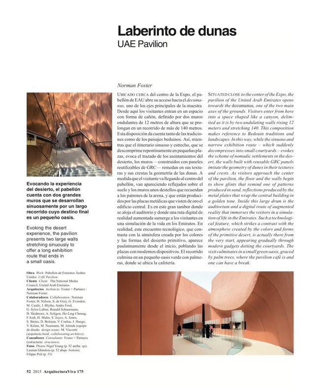 Arquitectura Viva 175 EXPO MILANO 2015 - Preview 15