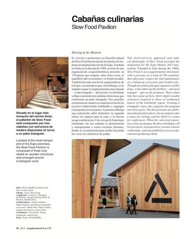 Arquitectura Viva 175 EXPO MILANO 2015 - Preview 17