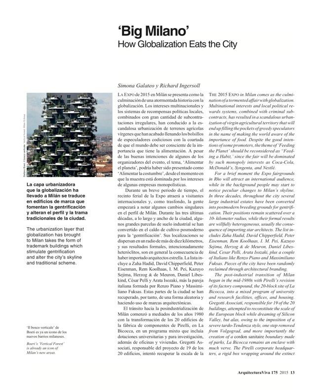 Arquitectura Viva 175 EXPO MILANO 2015 - Preview 4