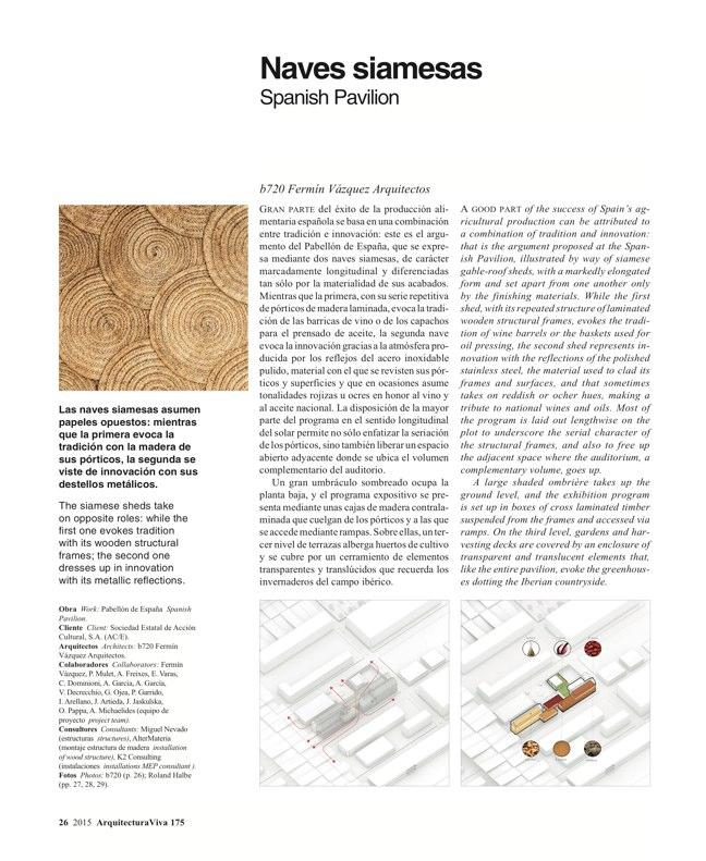 Arquitectura Viva 175 EXPO MILANO 2015 - Preview 6