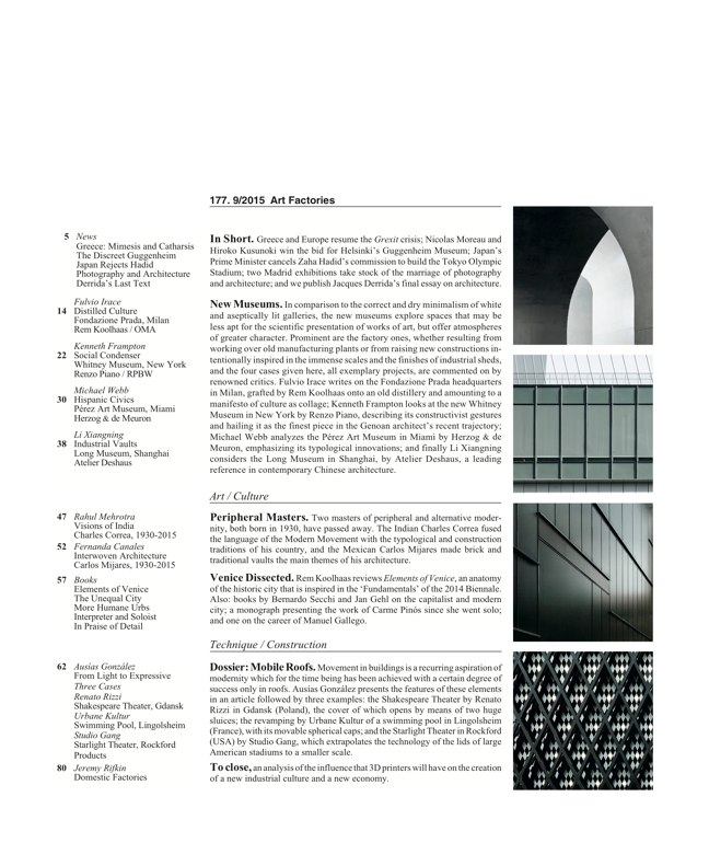 Arquitectura Viva 177 ART FACTORIES - Preview 2