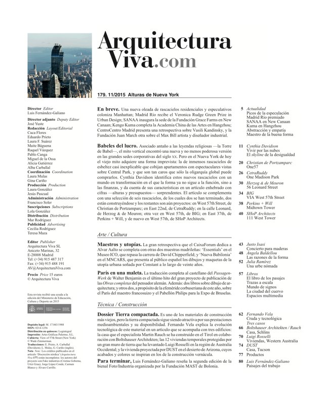 Arquitectura Viva 179 New York Heights - Preview 1