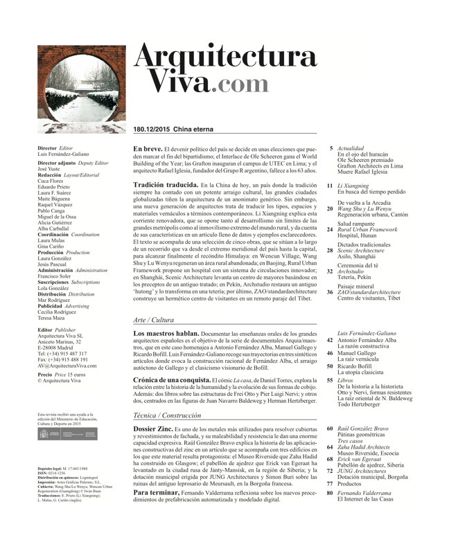 Arquitectura Viva 180 TIMELESS CHINA - Preview 1