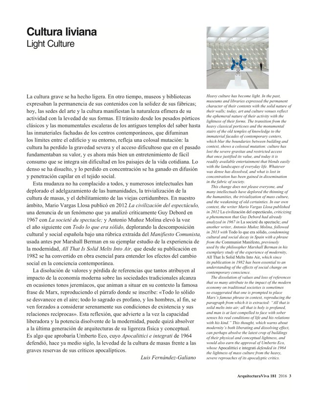 Arquitectura Viva 181 LIGHT CULTURE - Preview 3