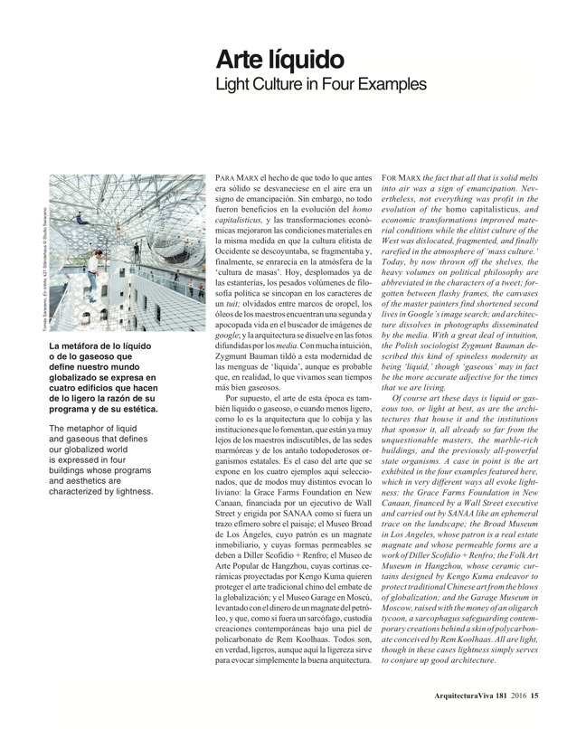 Arquitectura Viva 181 LIGHT CULTURE - Preview 5