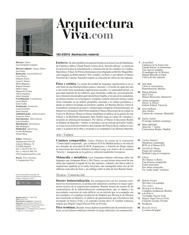 Arquitectura Viva 183 Material Abstraction - Preview 1