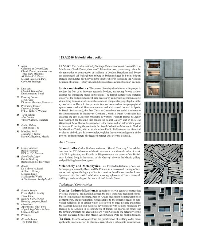 Arquitectura Viva 183 Material Abstraction - Preview 2