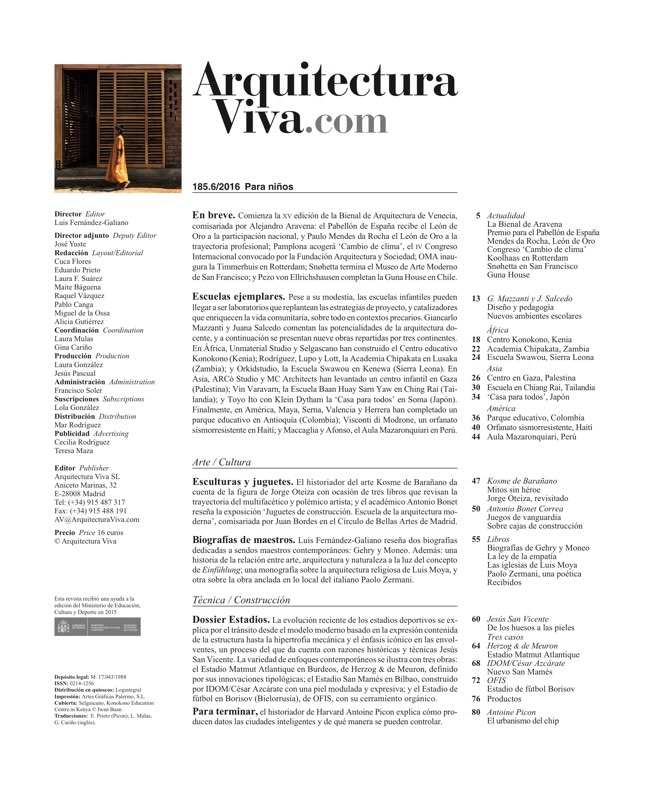 Arquitectura Viva 185 For Children - Preview 1