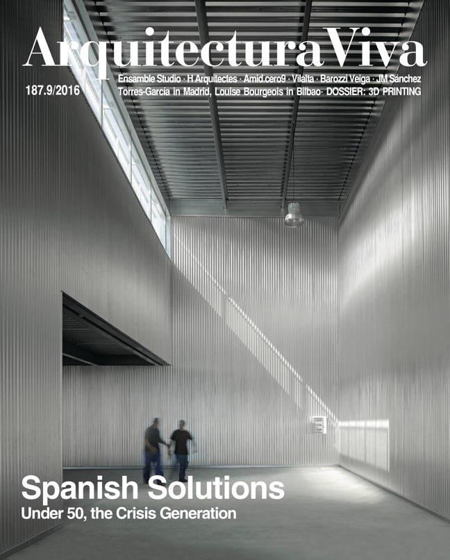 Arquitectura Viva 187 Spanish Solutions. Under 50, the Crisis Generation