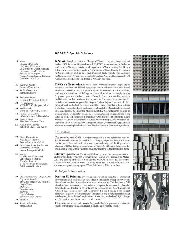 Arquitectura Viva 187 Spanish Solutions. Under 50, the Crisis Generation - Preview 2