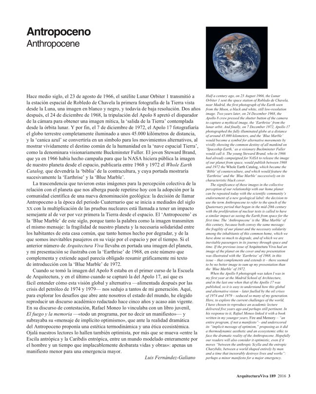 Arquitectura Viva 189 ANTHROPOCENE - Preview 2