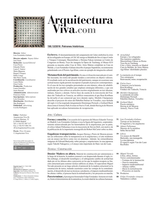 Arquitectura Viva 190 History Patterns - Preview 1