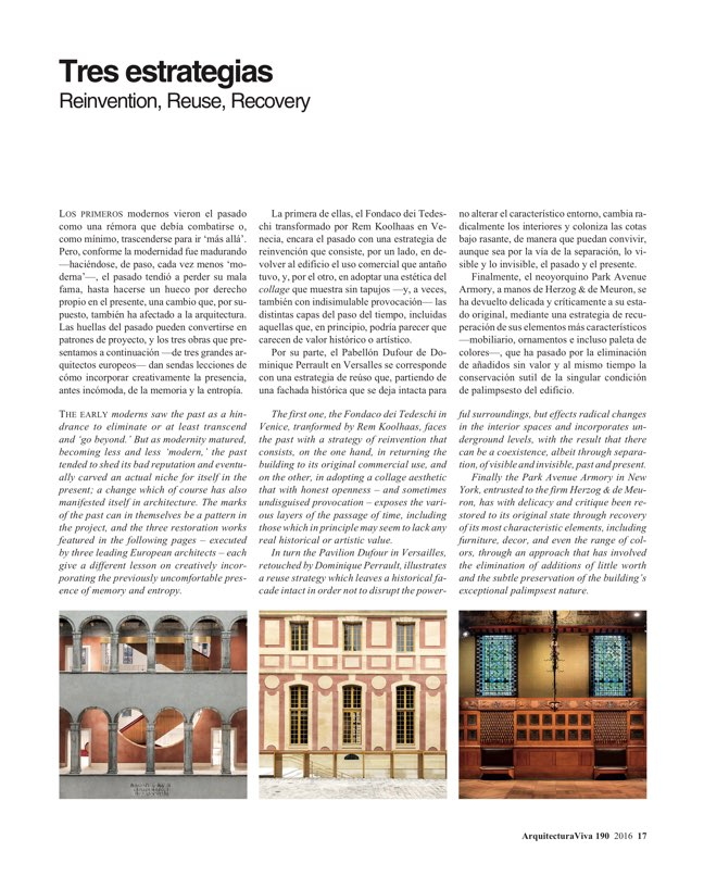 Arquitectura Viva 190 History Patterns - Preview 3