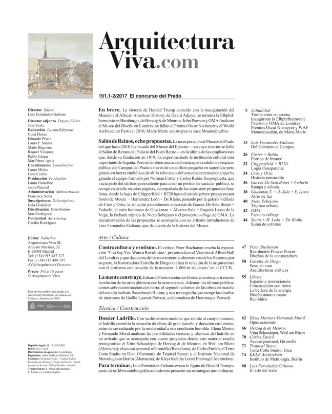 Arquitectura Viva 191 The Prado Competition - Preview 1