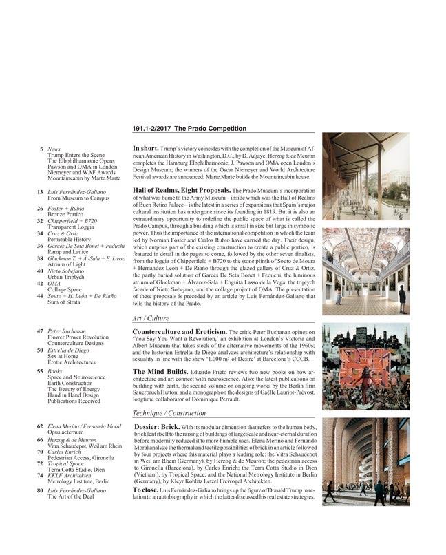Arquitectura Viva 191 The Prado Competition - Preview 2
