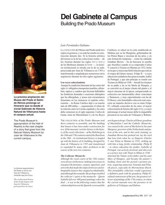 Arquitectura Viva 191 The Prado Competition - Preview 4