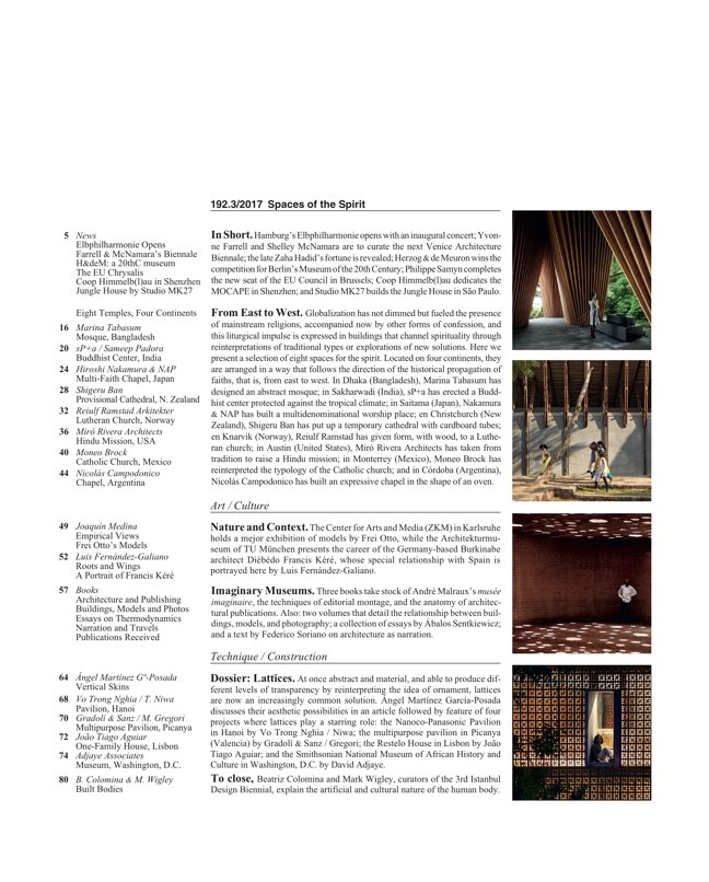 Arquitectura Viva 192 Spaces of the Spirit - Preview 2