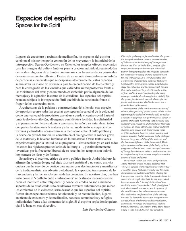 Arquitectura Viva 192 Spaces of the Spirit - Preview 3