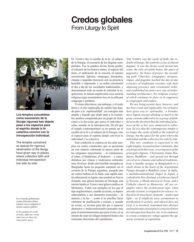 Arquitectura Viva 192 Spaces of the Spirit - Preview 4