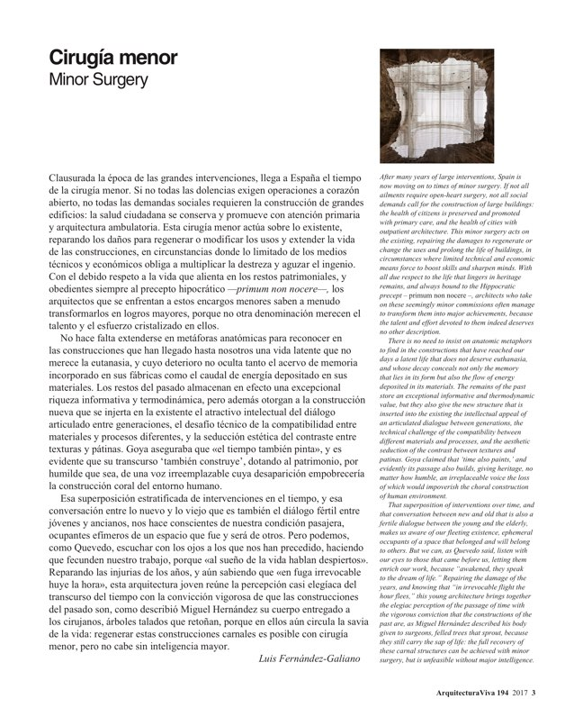 Arquitectura Viva 194 Minor Surgery - Preview 2