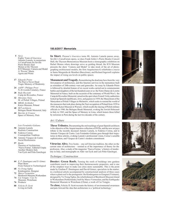 Arquitectura Viva 195 Memorials - Preview 2