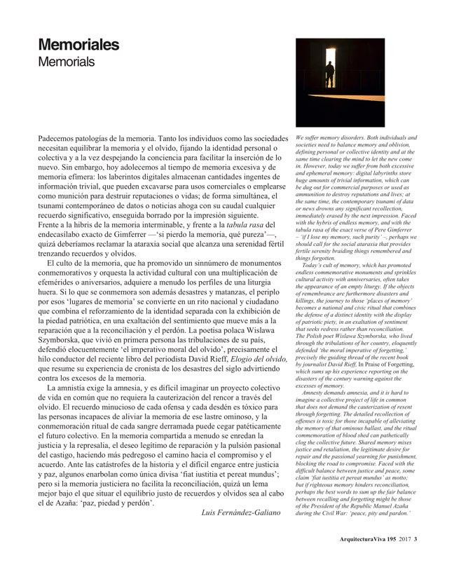 Arquitectura Viva 195 Memorials - Preview 3