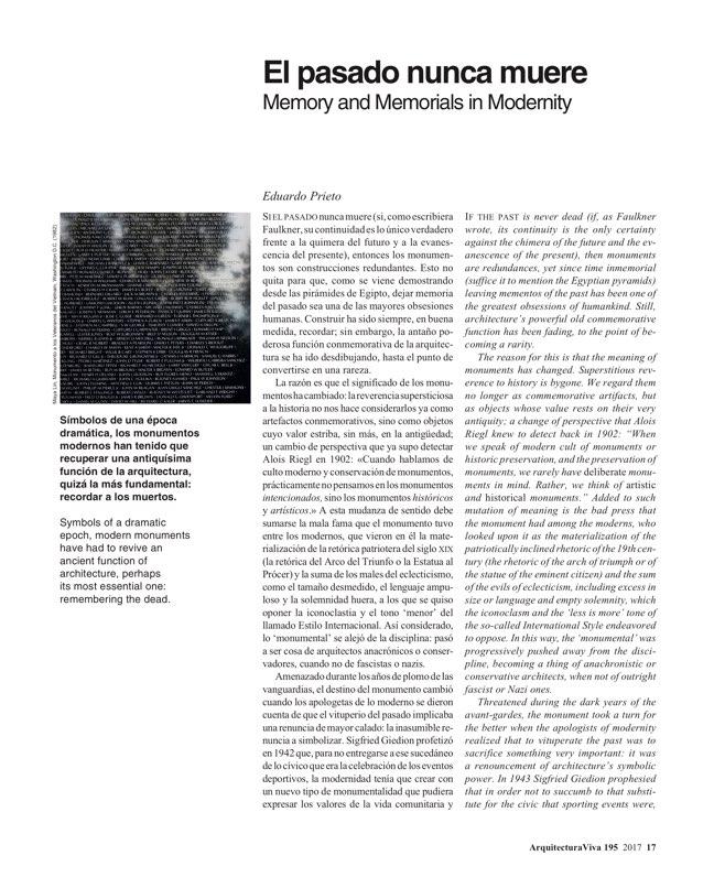 Arquitectura Viva 195 Memorials - Preview 5