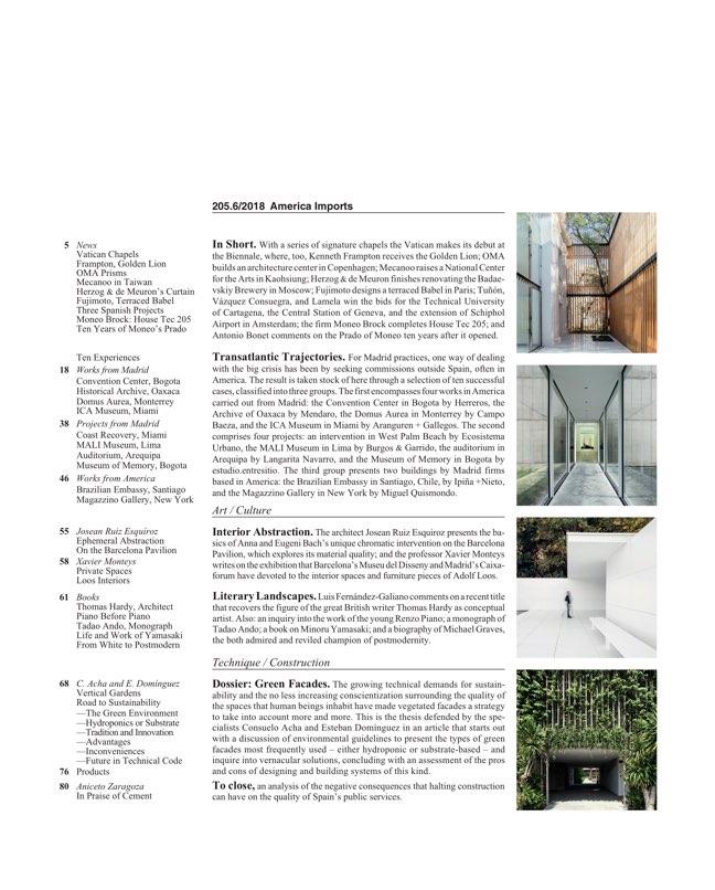 Arquitectura Viva 205 América importa - Preview 2