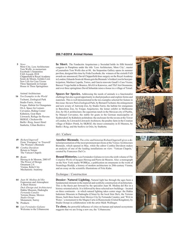 Arquitectura Viva 206 Animal Homes - Preview 2