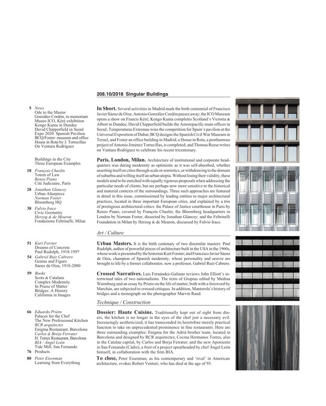 Arquitectura Viva 208 Singular Buildings - Preview 2
