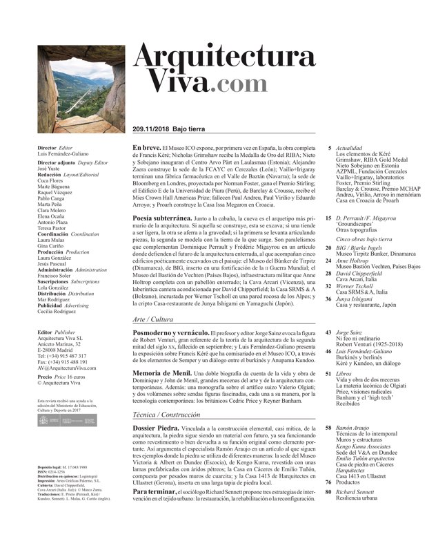 Arquitectura Viva 209 Groundscapes I Bajo tierra - Preview 1