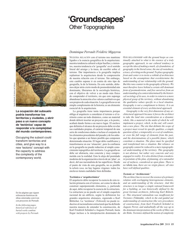 Arquitectura Viva 209 Groundscapes I Bajo tierra - Preview 3
