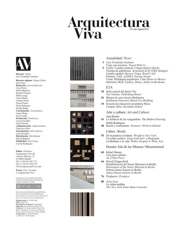 Arquitectura Viva 216 E2A Exactitud helvética - Preview 1