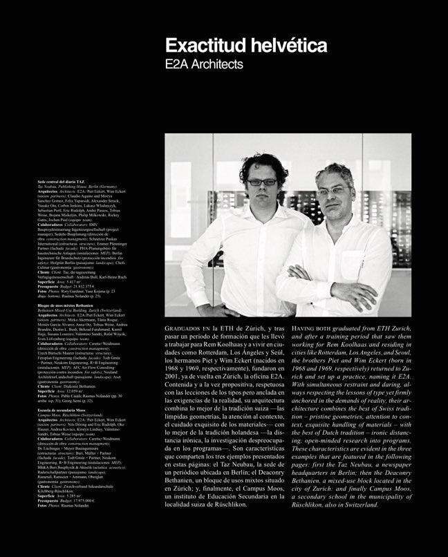 Arquitectura Viva 216 E2A Exactitud helvética - Preview 3