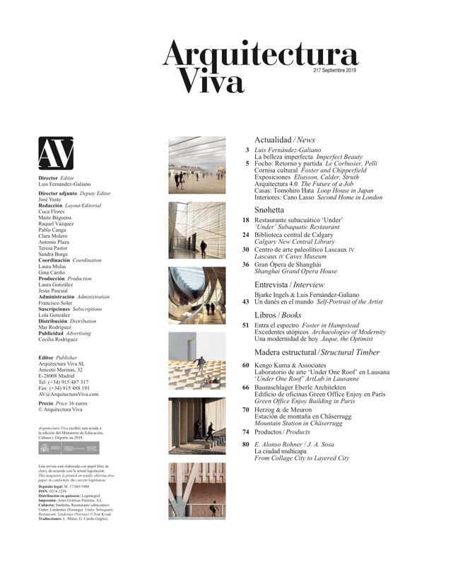 Arquitectura Viva 217 SNØHETTA - Preview 1